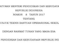 Download Juknis BOS sesuai Permendikbud No 8 Tahun 2017 pdf