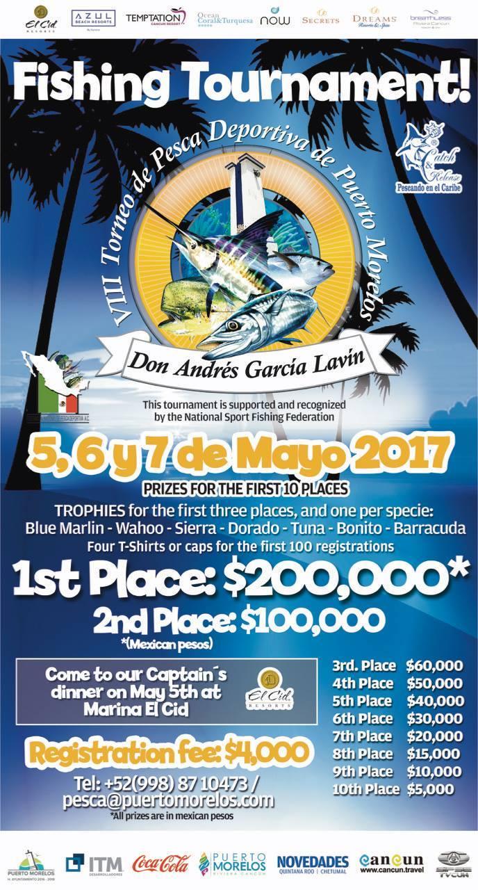 Puerto morelos blog puerto morelos 2017 fishing for Fishing tournaments 2017