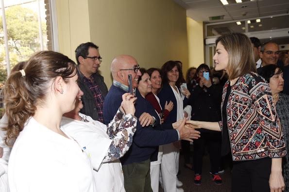 Queen Letizia Visited Nino Jesus University Children's Hospital