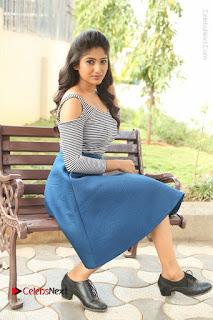 Telugu Actress Roshini Prakash Stills Short Dress at Saptagiri Express Release Press Meet  0197.JPG