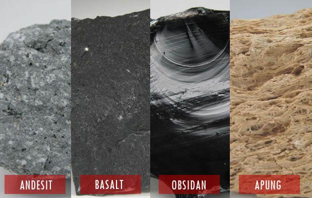 4 Ciri Batuan Beku Luar beserta Contohnya