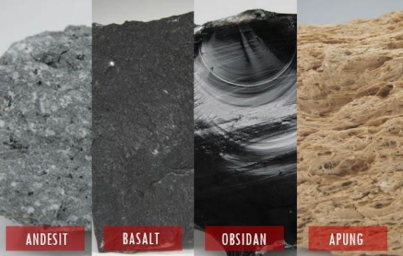 7 Contoh Batuan Beku Luar, Ciri ciri, Penjelasan, dan Gambarnya