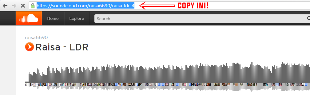 Cara Download Di Soundcloud via SaveFrom.net