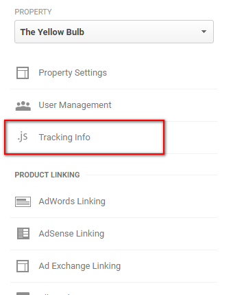 Property tab > Tracking Info