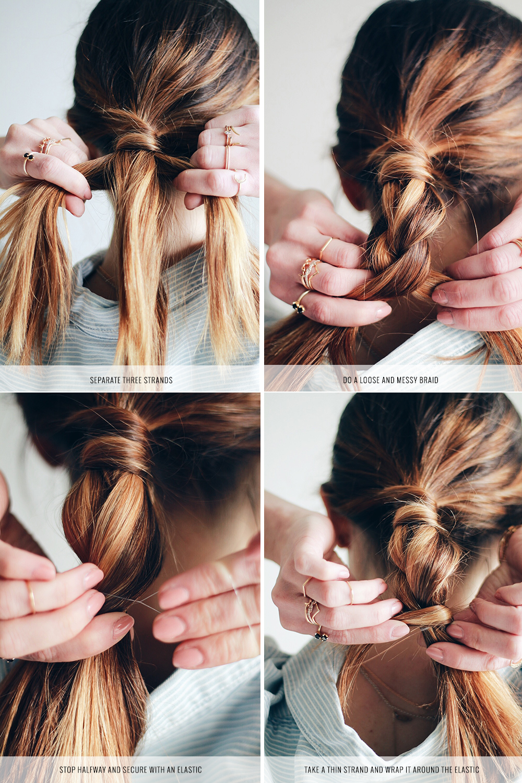 DIY File Easy Half Braided Ponytail Tutorial THE VAULT FILES - Diy ponytail wrap