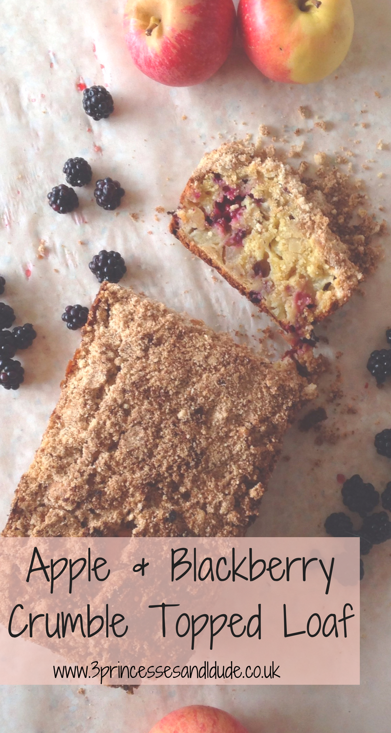 Crumble Topped Apple and Blackberry Loaf