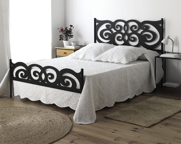 Muebles de forja camas de forja serie 1 for Cama de forja blanca