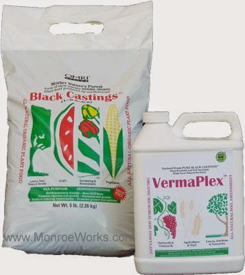 Organic worm castings and liquid for shrub fertilizer