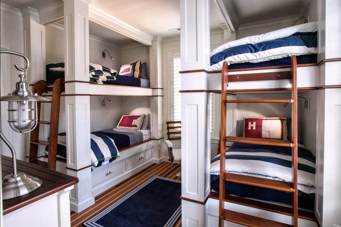 Baseball Themed Bedroom Delorme Designs Nautical Bunk Beds