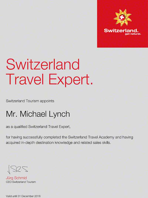 Switzerland Travel Expert Certificate
