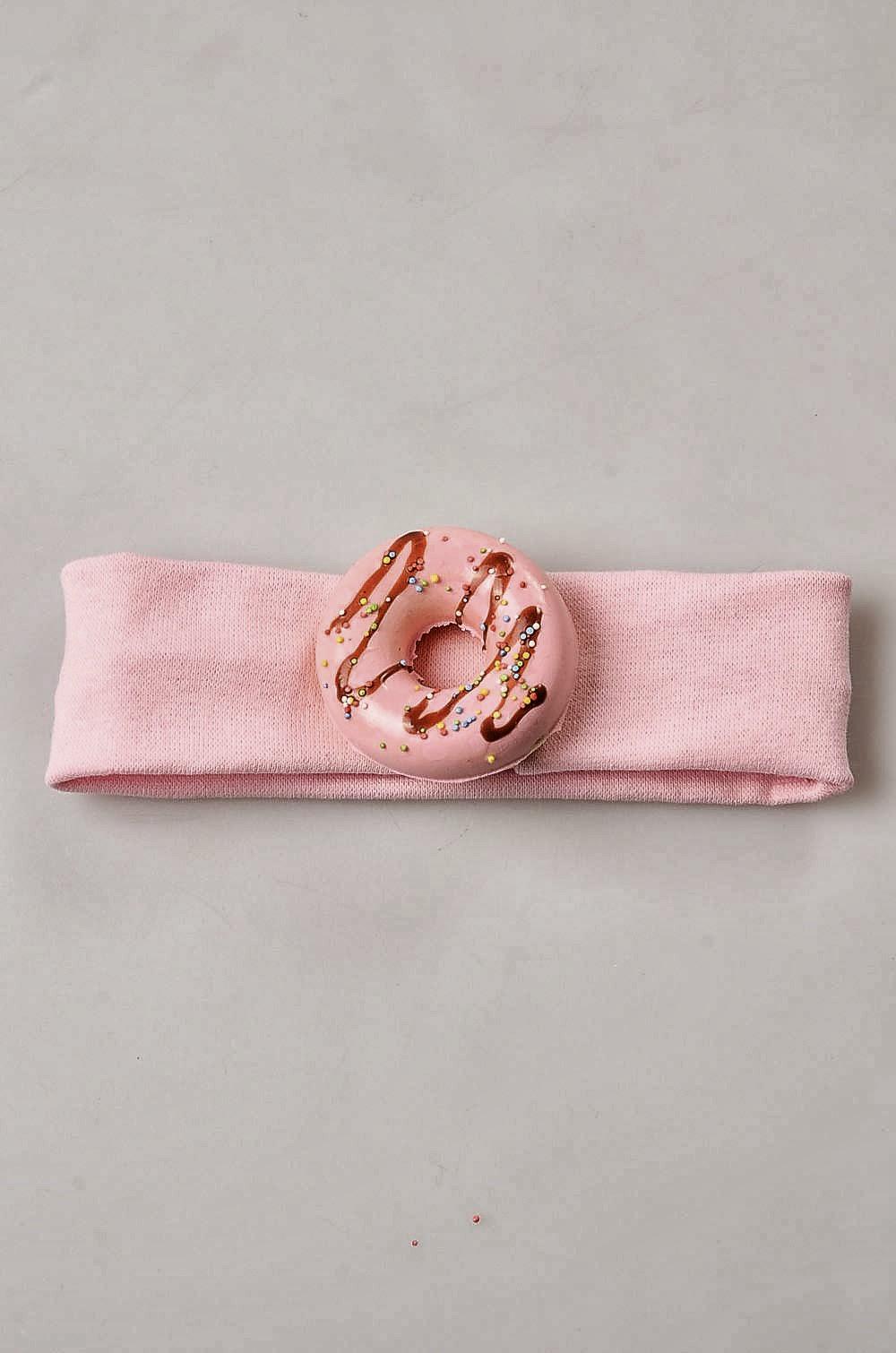 bebek saç bandı satın al pembe donut