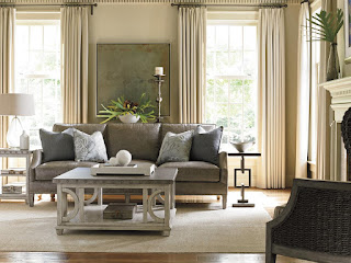 beautiful grey sofa and decor
