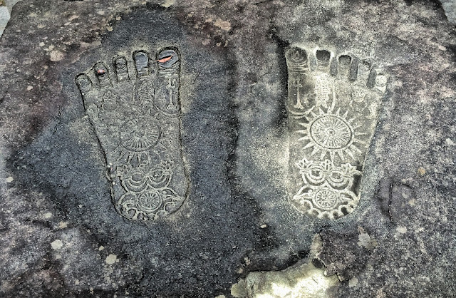 Buddha's footprints Osaka Japan Mythic Yoga Journey