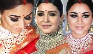 ANUSHKA SHARMA WEDDING RECEPTION LOOK | MAKEUP AND HAIRSTYLE