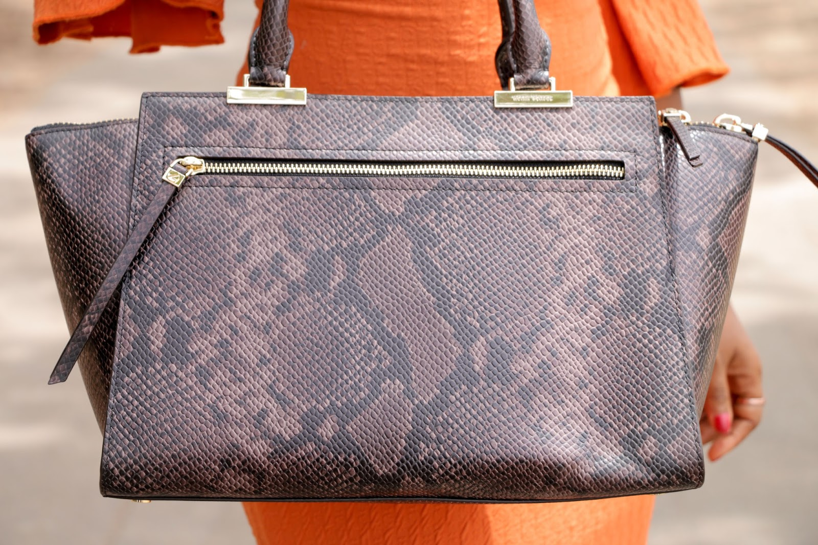 THE FLYGERIAN - Henri Bendel Snake Print Bag from The Flygerian