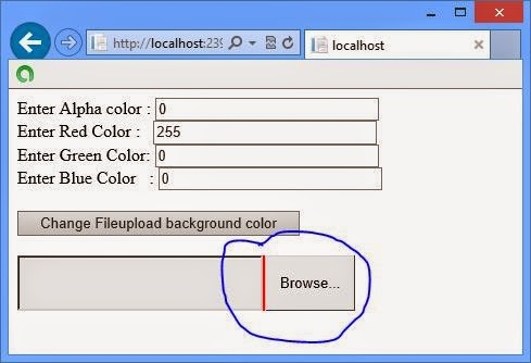 programmatically change background color of fileupload control in ASP.NET
