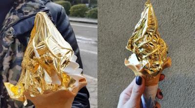 Di Jepang Menyediakan Menu Es Krim Berlapis Emas