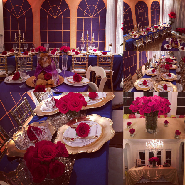 Beauty and the Beast Birthday Party by popular South Florida party blogger Celebration Stylist