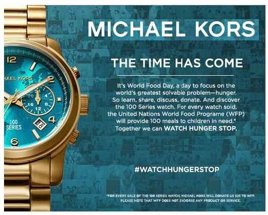 ea8de94dff45 Join Michael Kors to watch hunger stop - Fashion   Art