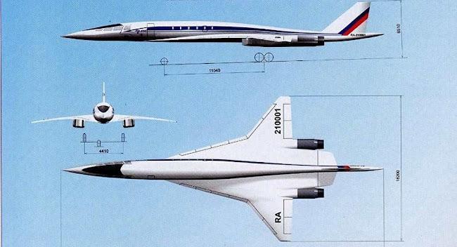 Η Tupolev αποκαλύπτει το νέο υπερηχητικό επιβατικό της αεροσκάφος