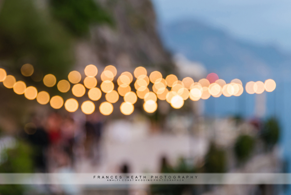 Blurred fairy lights