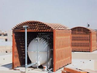 مظلات خزانات المياه