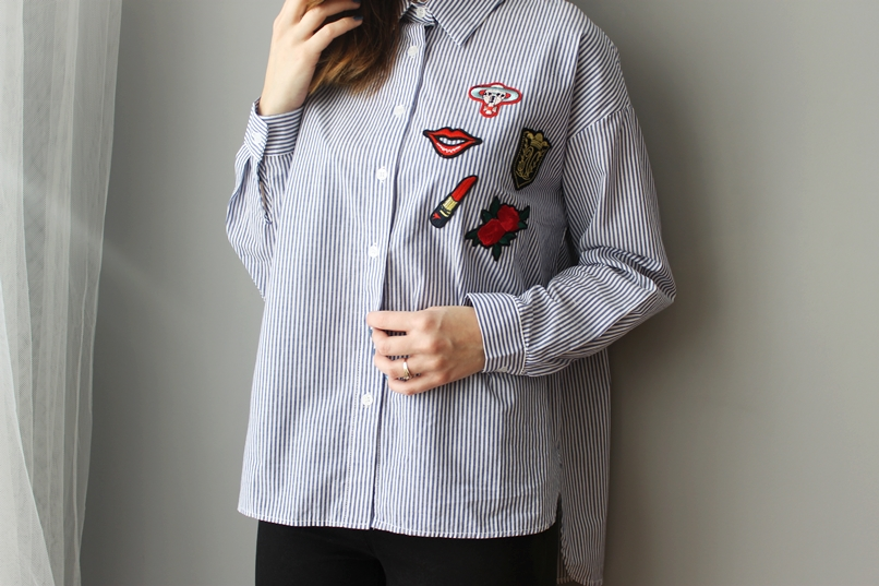 Naszywkami Zblogowani Koszula Moda Z Koszula Naszywkami Z SWZUWqw6n