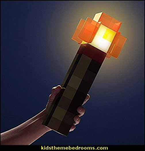 Minecraft Redstone Light-Up Wall Torch  minecraft bedroom ideas - minecraft bedroom decor