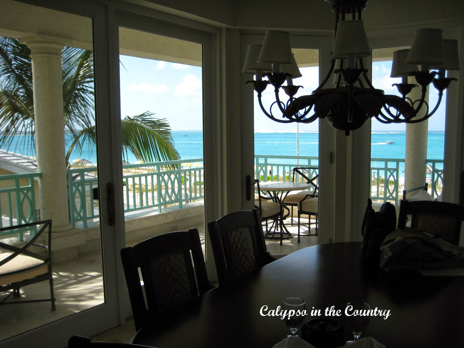 Dining with a view at the Palms Turks and Caicos