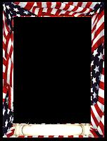 Moldura retângulo EUA