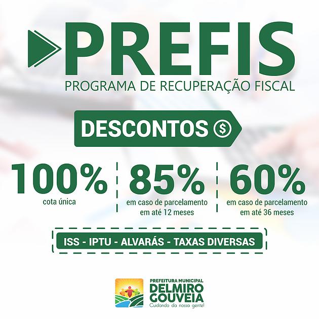 Prefeitura de Delmiro Gouveia lança Programa de Recuperação Fiscal com até 100% de desconto