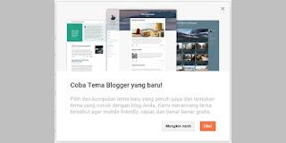 Template Baru Dari Blogger