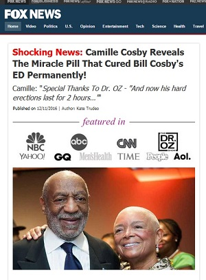 Bill Cosby erectile dysfunction; Camille Cosby