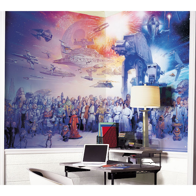 star wars wall painting, wall murals