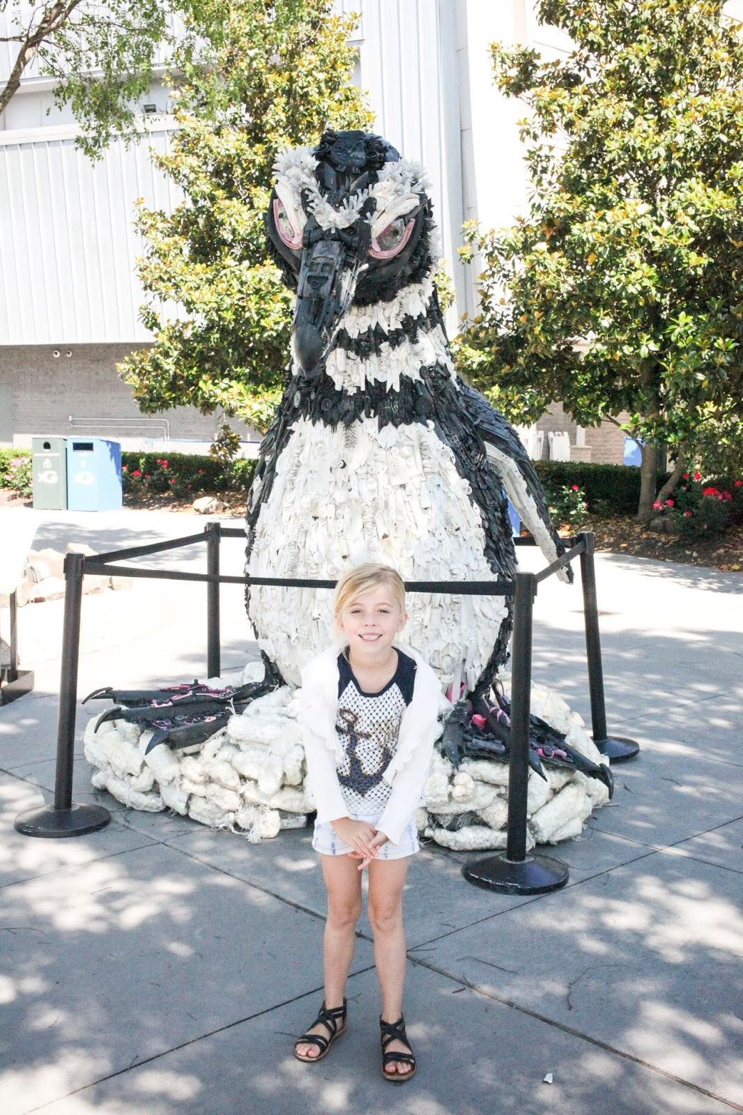 Sienna outside the Georgia Aquarium