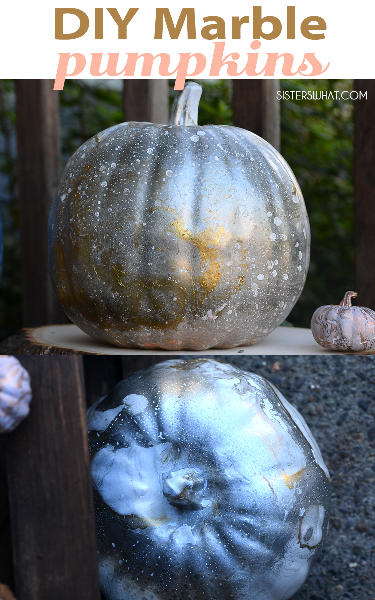 marble pumpkins painting ideas and crafts for autumn decoration