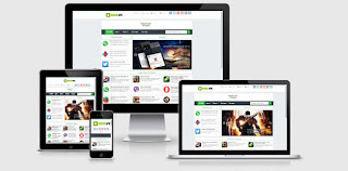 Green APK Blogger Template