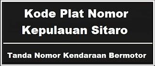 Kode Plat Nomor Kendaraan Kepulauan Sitaro