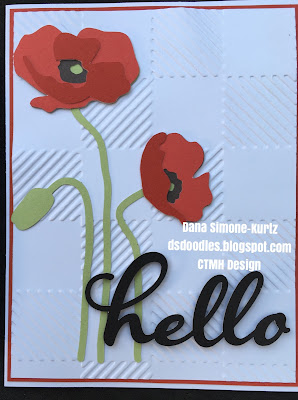 Cricut Poppy Card