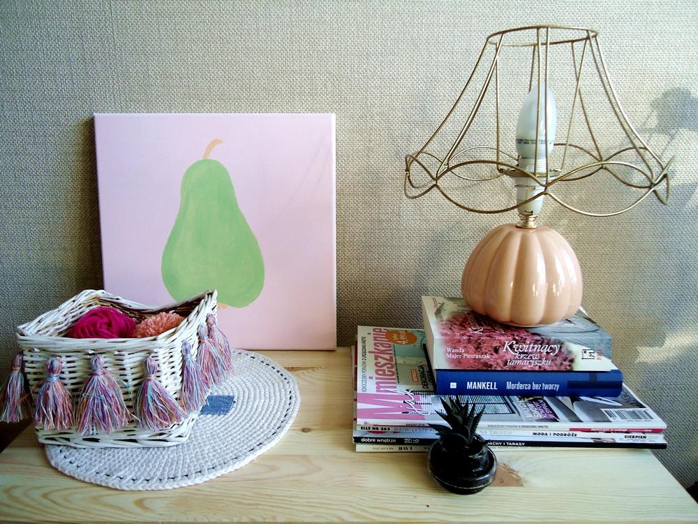obraz diy, gruszka, łatwe dekoracje