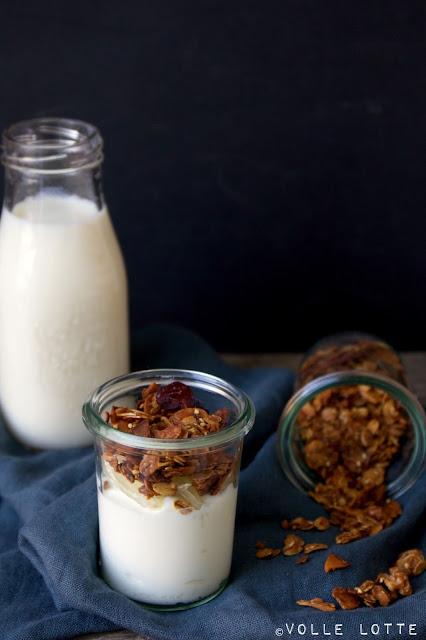 Granola, Müsli, Frühstück, köstlich, lecker, Wochenende, Rezept, knusprig