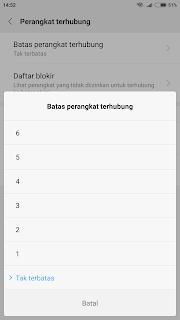 cara blacklist pengguna hotspot di xiaomi