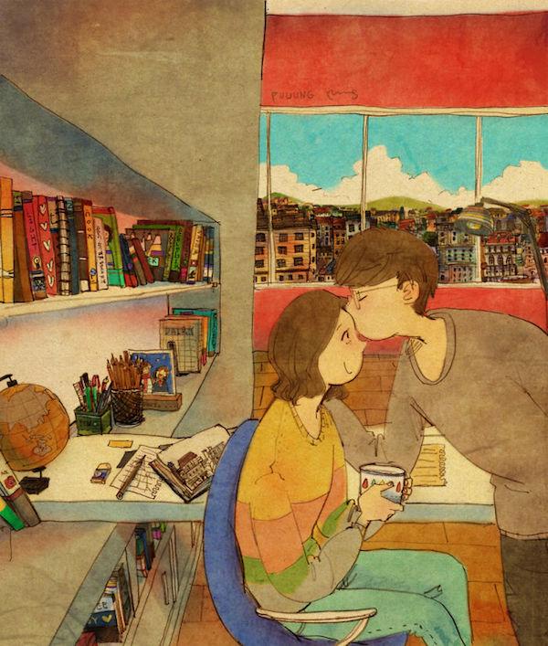 beso en frente