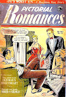 Pictorial Romances v1 #24  st. john romance comic book cover art by Matt Baker