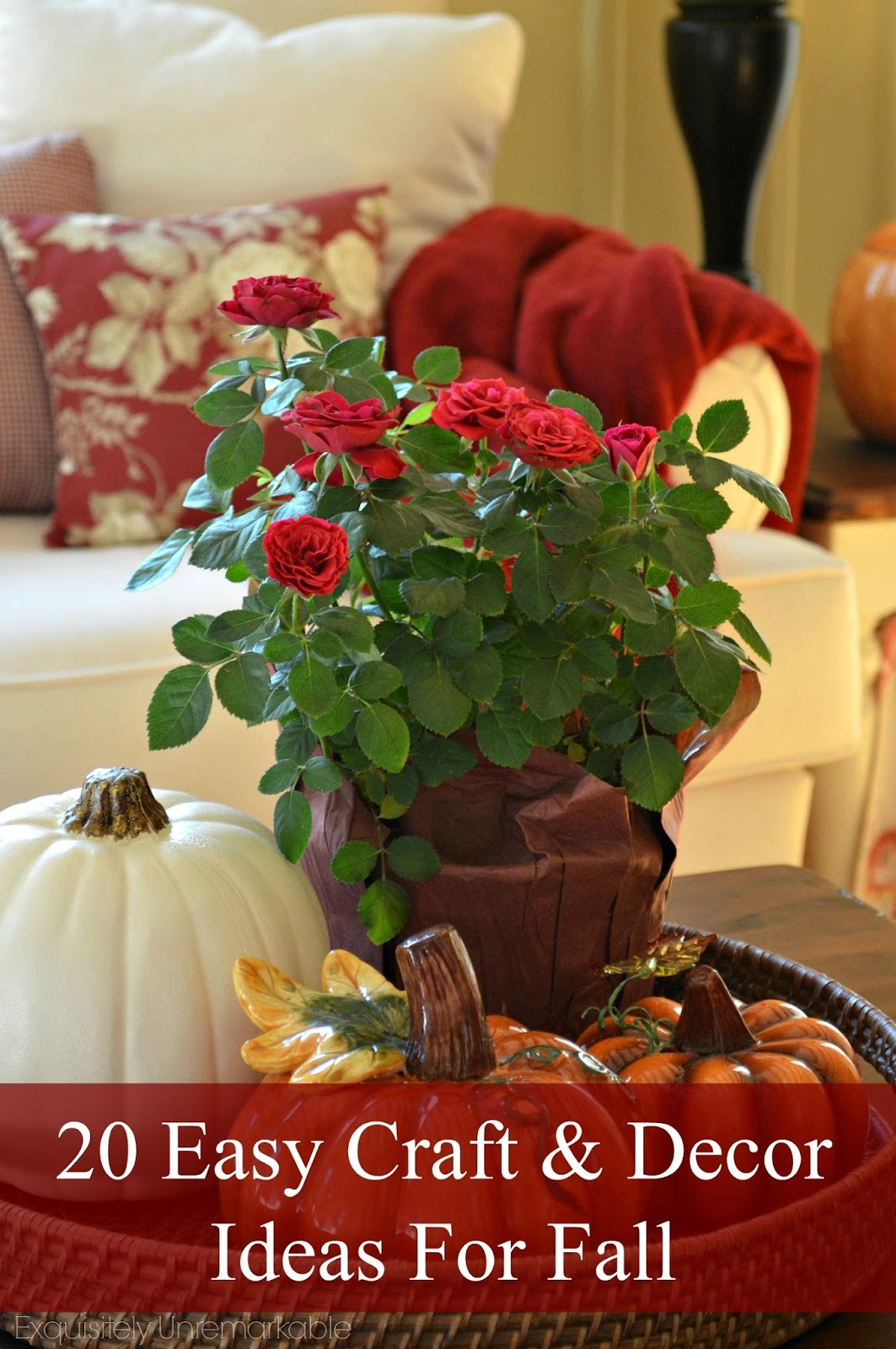 Easy craft and home decor ideas for fall