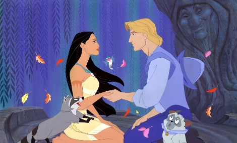 Smith and Pocahontas Pocahontas 1995 animatedfilmreviews.filminspector.com