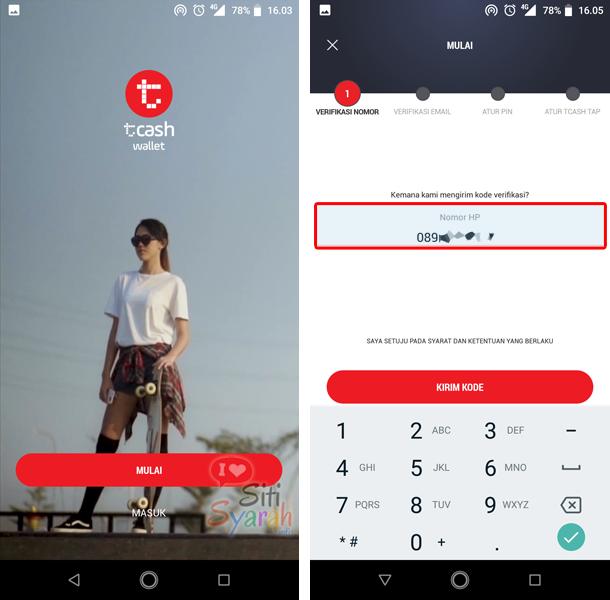 Bagaimana mengaktifkan tcash di Android dan iPhone