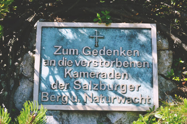 Untersberg Memorial Plaque