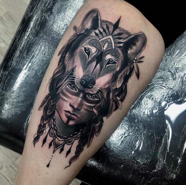 130 Best Wolf Tattoos For Men 2019 Howling Lone Tribal