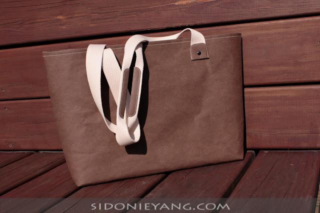 可水洗牛皮紙托特包 Washable Kraft Paper Tote Bag